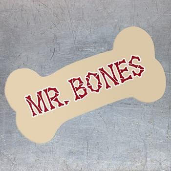 dog bone car magnet custom bone shaped magnets