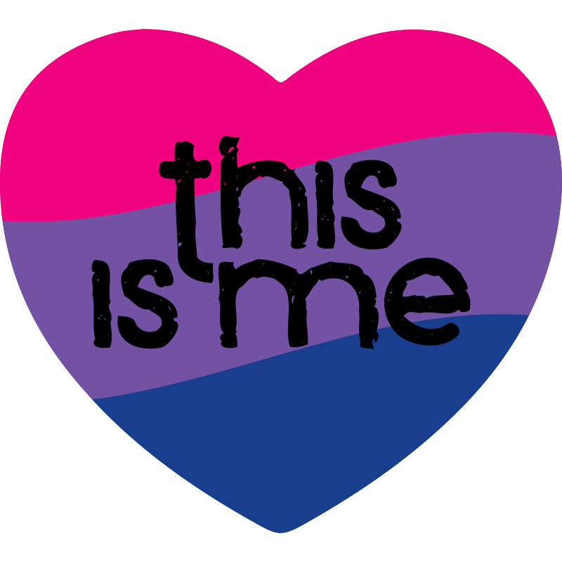 Coming Out Day Bisexual Heart Magnet