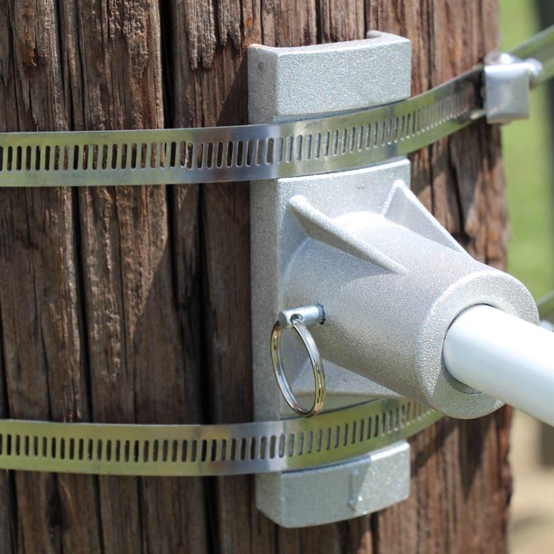 Banner bracket straps up close details